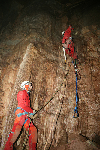 Aaron Moses bolt climbing