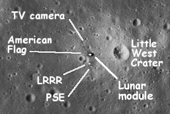 Tranquility Base as imaged by LRO