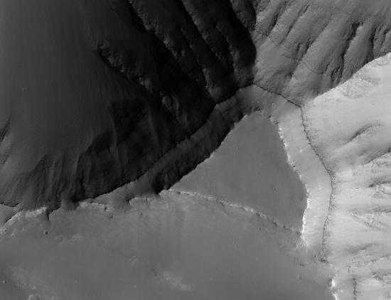 Mesa top on Mars