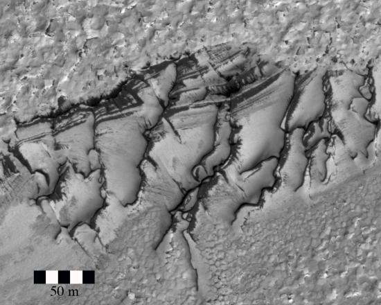 Closeup of ice mound