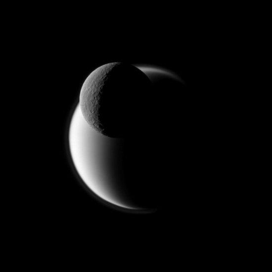Rhea eclipses Titan
