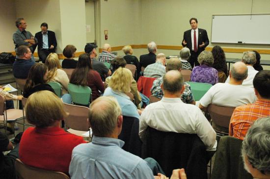 Eric Wargotz speaking at MSOP meeting