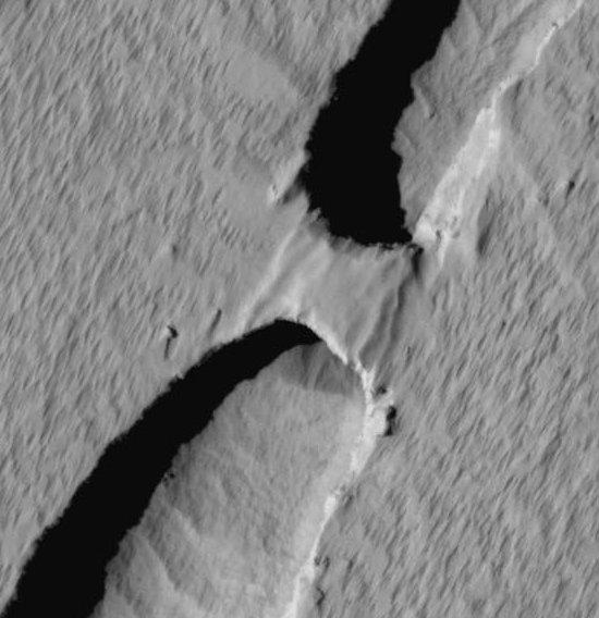 Natural Bridge on Mars
