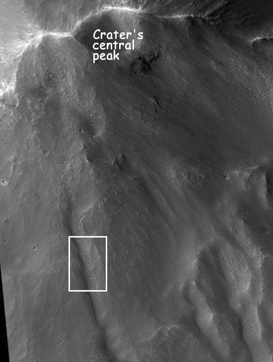 central crater peak