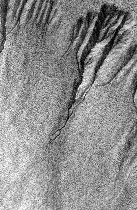 gullies in Sisyphi Planum