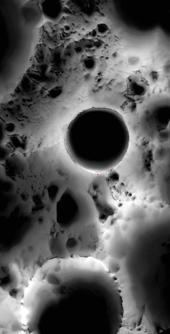 illumination map of lunar south pole