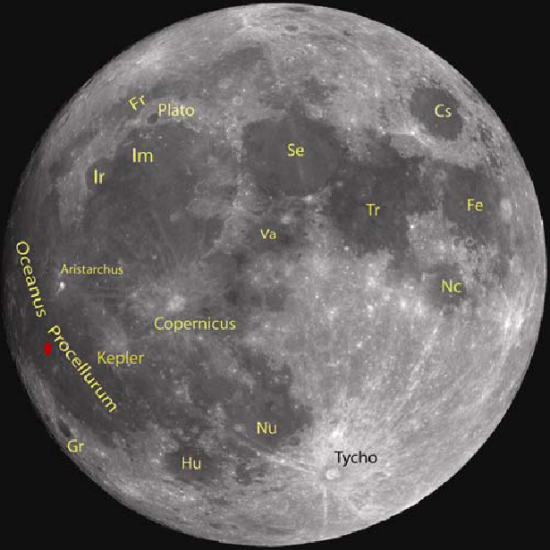 The Moon's near side, annotated