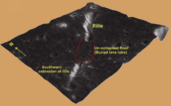 Computer generated image of lava tube