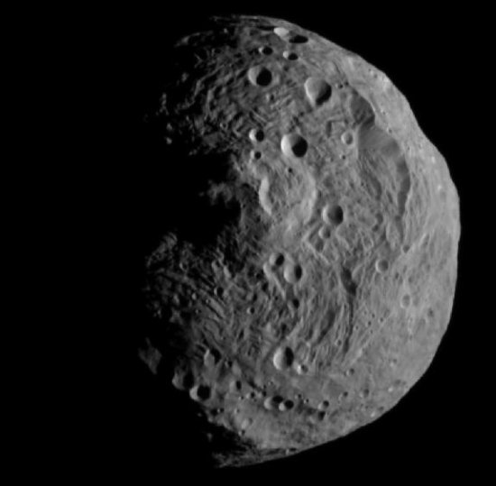 First image from orbit of Vesta