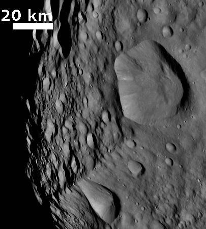strange craters on Vesta