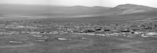 a view of Endeavour Crater