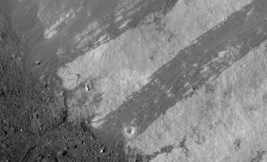 lunar granular flow