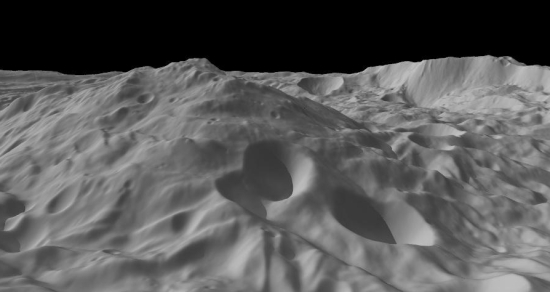 Mountain on Vesta