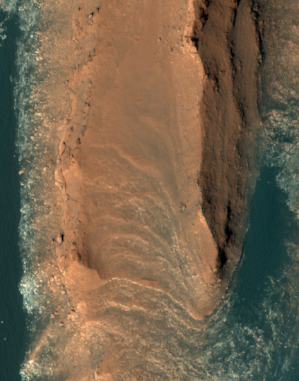 Red cliffs on Mars