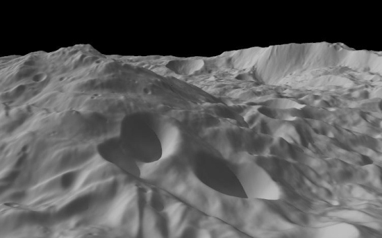 Vesta from low orbit