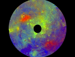 False color of Vesta