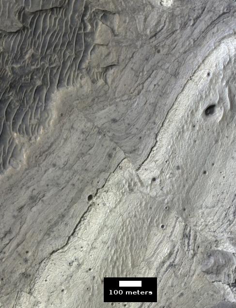 Martian fault, close up