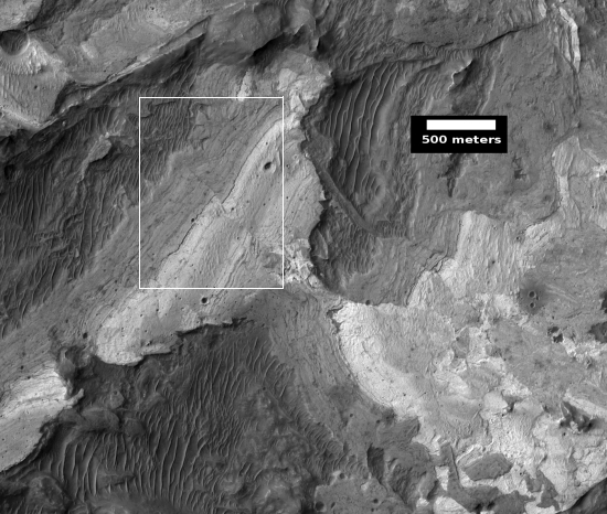 Wide image of Martian fault