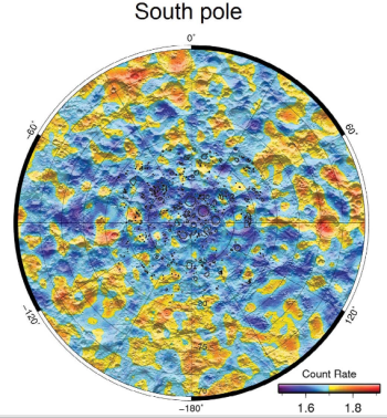LEND data of lunar south pole