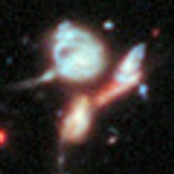 Hubble Extreme Deep Field inset