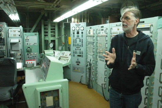 Chuck Penson in the silo control room.
