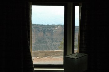 The Grand Canyon from our motel room