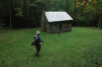 The Baxter cabin in the Smoky Mountains