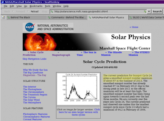 January prediction by Marshall solar scientists