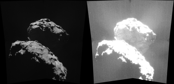 Adjusted comet image