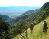 view descending into Pima Canyon