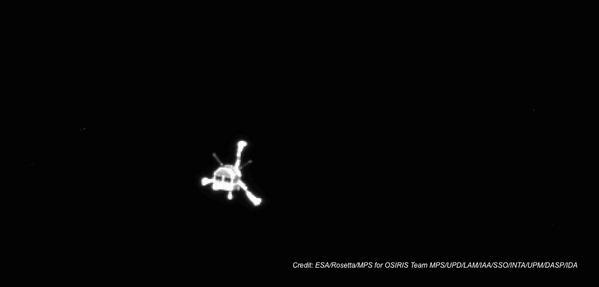 Philae after separation