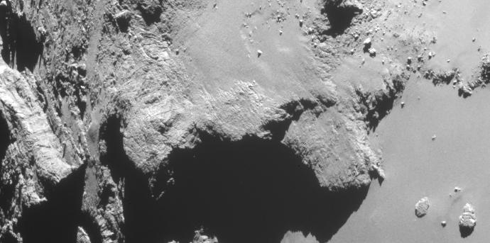 close-up of Comet 67P/C-G