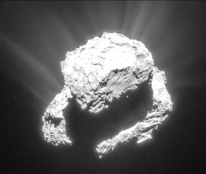 Comet 67P/C-G's smaller lobe