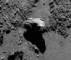 balanced rock on Comet 67P/C-G