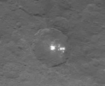 Ceres' double bright spots