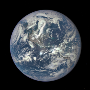 Earth from a million miles away
