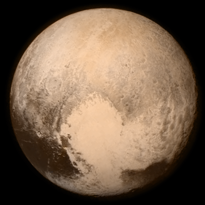Pluto just before close encounter