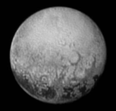 Pluto's opposition hemisphere