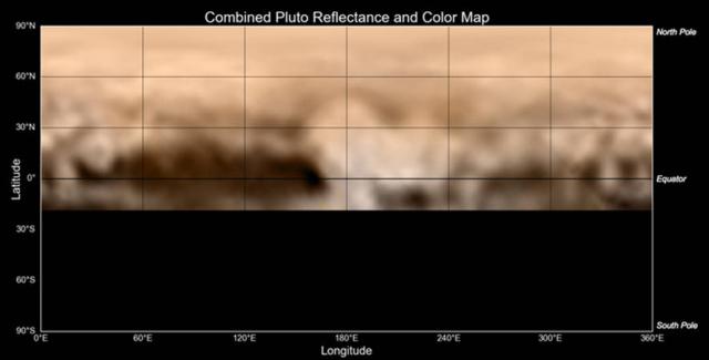 New Horizons map of Pluto