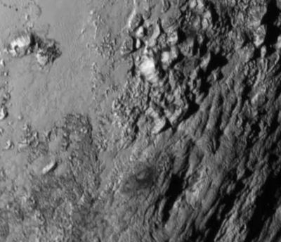 Ice mountains on Pluto