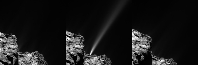 jet on Comet 67P/C-G