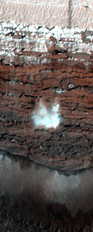 Avalanche on Mars