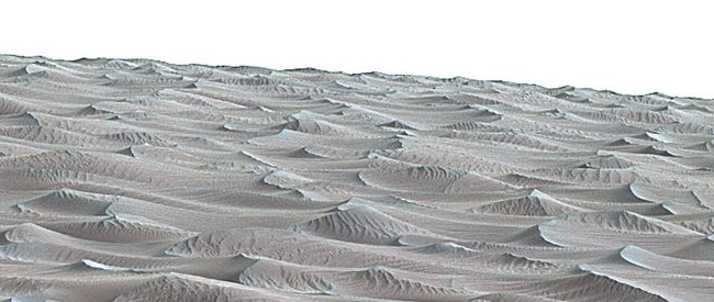 Close-up of Martian dune