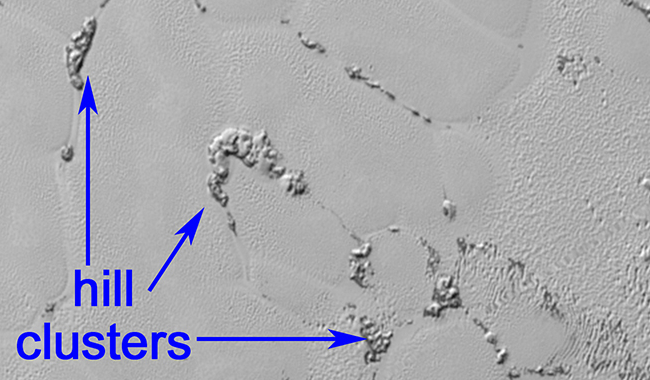 Pluto's floating mountains