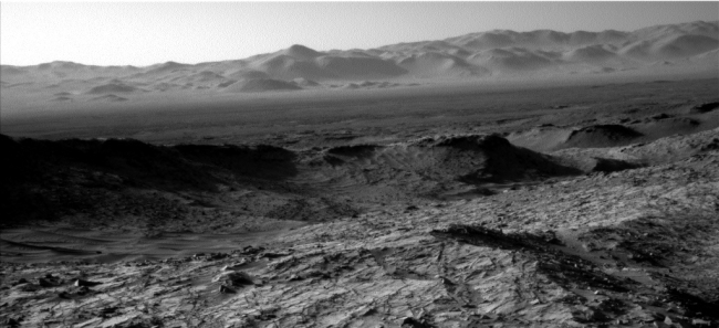 Looking across Gale Crater
