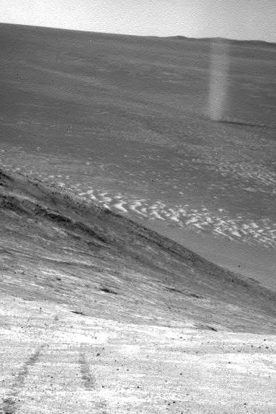 dust devil near Opportunity