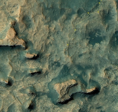 Curiosity's course to Balanced Rock