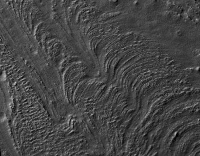 A glacier on Mars
