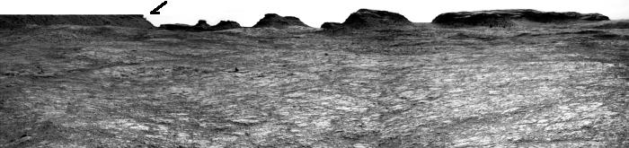 Panorama with balanced rock