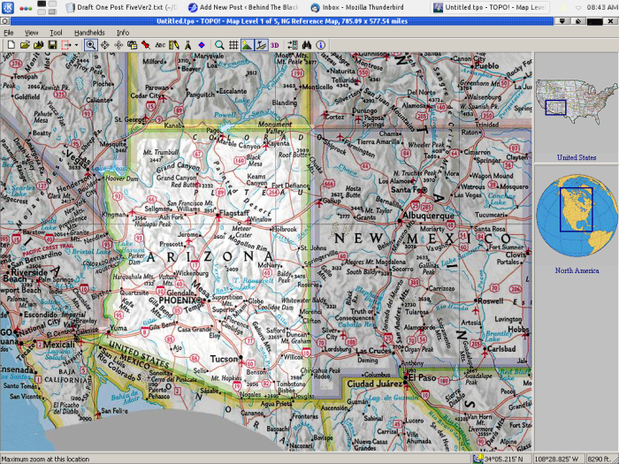 National Geographics Topo!, running on Linux using WINE